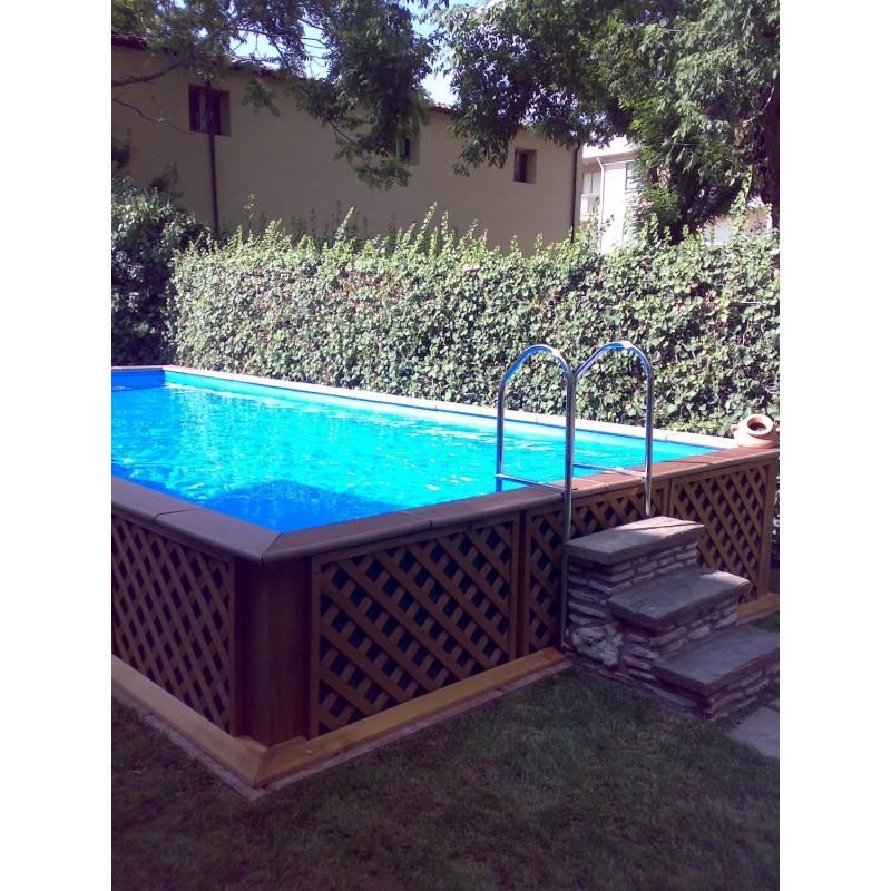 Piscina fuori terra laghetto dolce vita woody 2x5 vannini aqua pool - Piscine fuori terra usate laghetto ...