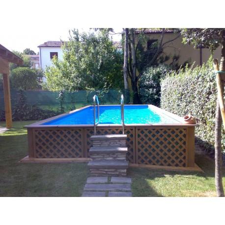 Piscina fuori terra Laghetto Dolce Vita Woody 4x8 - Vannini Aqua&Pool