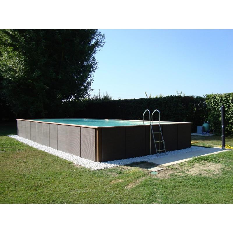 Piscina fuori terra laghetto dolce vita rattan 2x4 for Pompe per piscine fuori terra laghetto