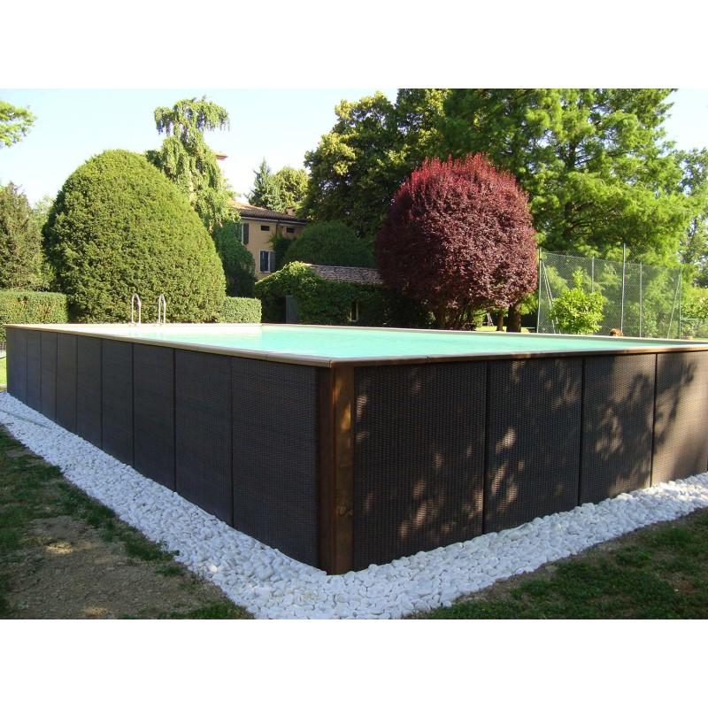 Above ground pool laghetto dolce vita rattan 2x5 vannini for Piscine 2x5