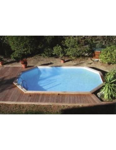 Piscina fuori terra Gardi Pool Oblong 3,90 x 6,20