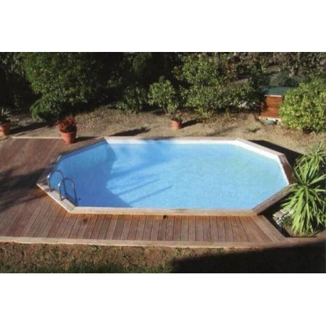 gardi pool oblong 4 60 x 8 10 piscina fuori terra in legno vannini aqua pool. Black Bedroom Furniture Sets. Home Design Ideas