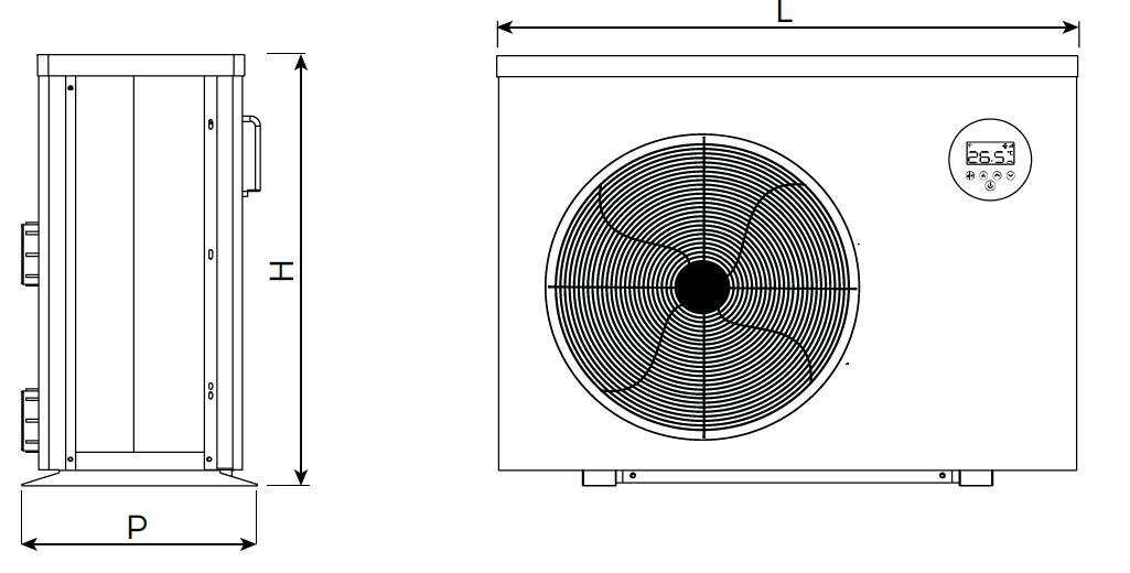 dimensioni pompa di calore